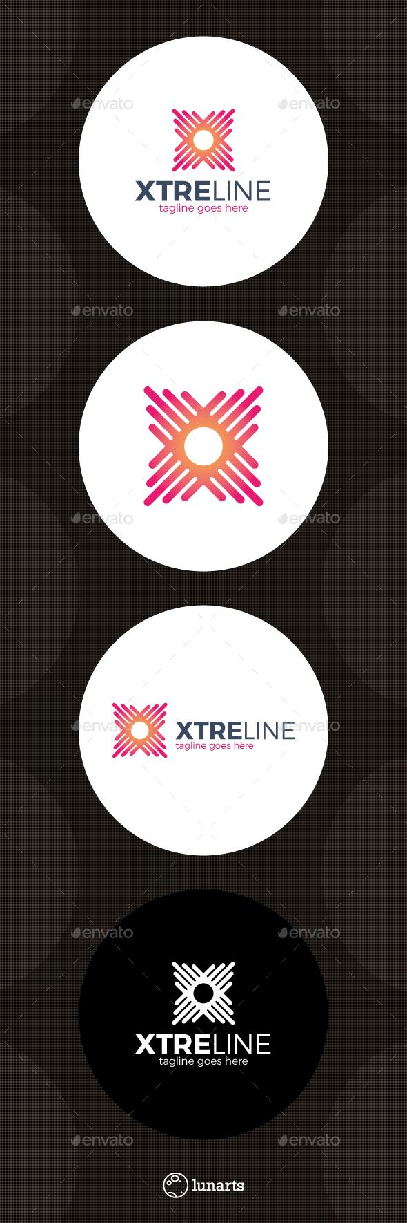 Xtreme Line Logo - Letter X - Letters Logo Templates