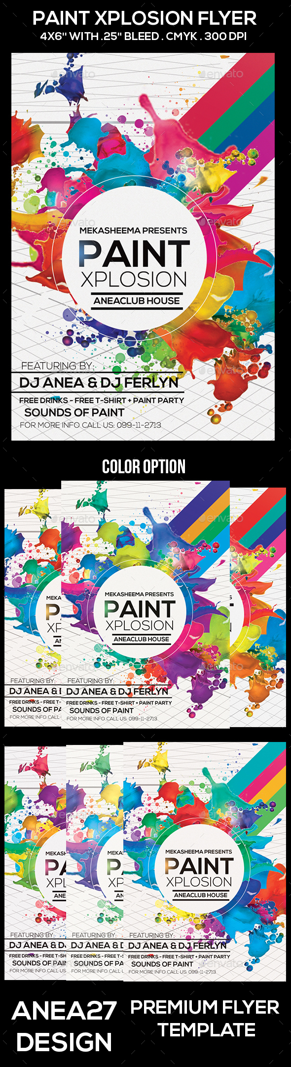 Paint Xplosion Flyer - Clubs & Parties Events