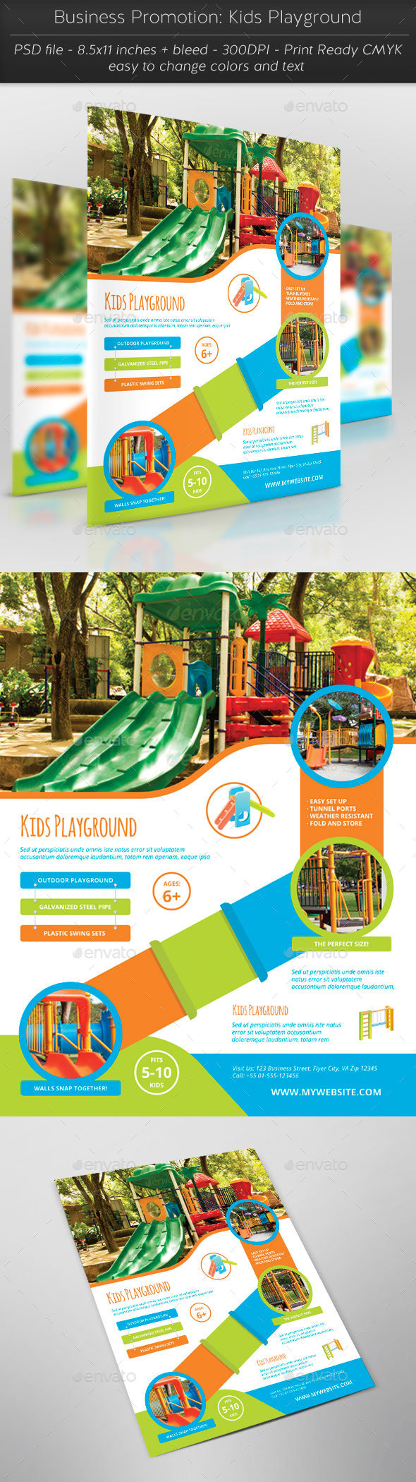 Business Promotion: Kids Playground - Flyers Print Templates