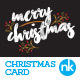 Christmas Card Template - Modern Gold Foil - GraphicRiver Item for Sale