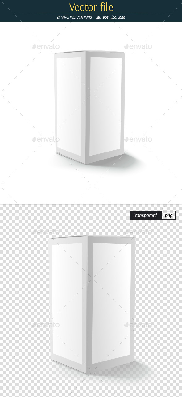 Template of Cardboard Box Editable Vector - Man-made Objects Objects