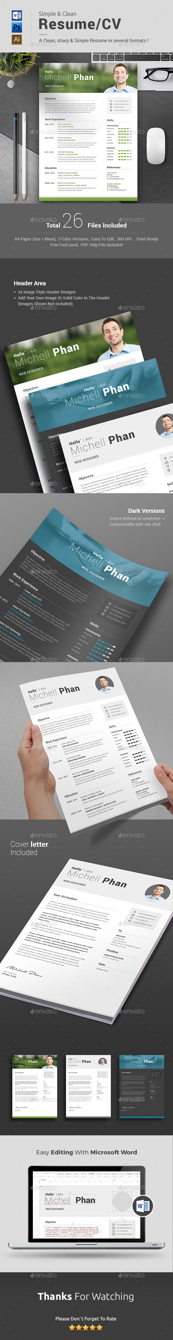 Resume word - Resumes Stationery