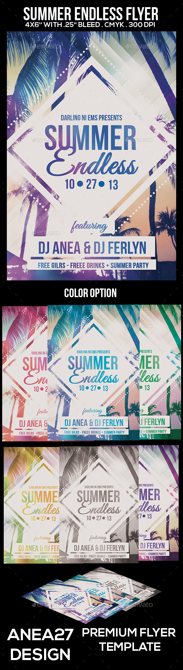 Summer Endless Flyer - Clubs & Parties Events