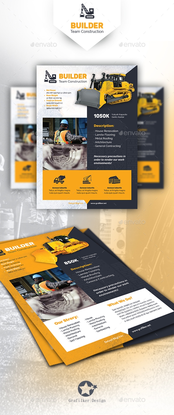 construction brochure template - construction flyer templates by grafilker graphicriver
