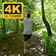 Sporty Young Man Running On Trail  - VideoHive Item for Sale
