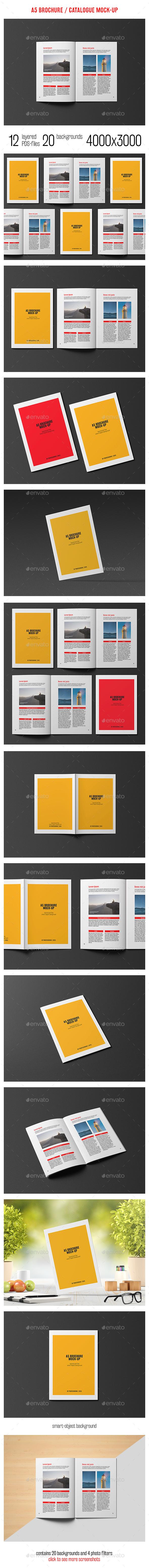 A5 Brochure / Catalogue Mock-Up - Brochures Print
