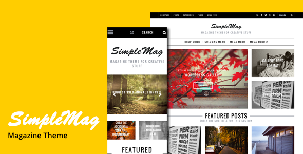 SimpleMag – Magazine Drupal Theme