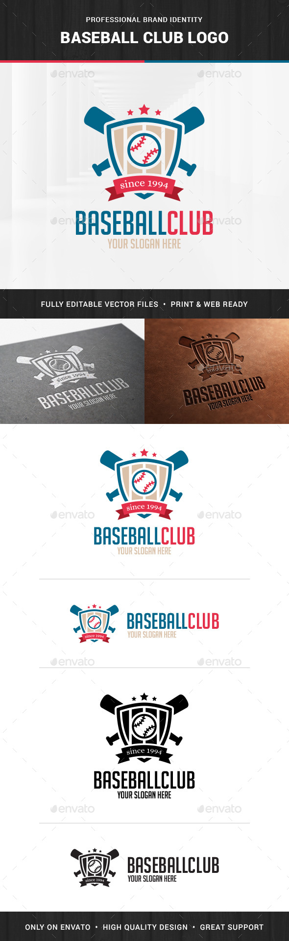 Baseball Club Logo Template - Crests Logo Templates