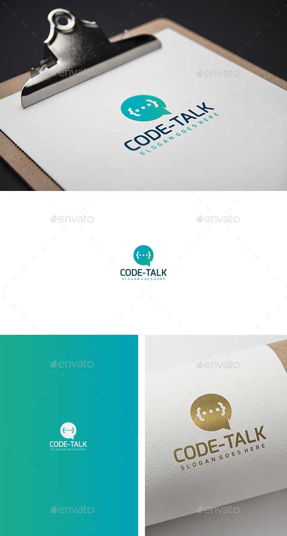 Code Talk Logo - Abstract Logo Templates