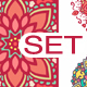 Abstract Flower and Mandala Set - GraphicRiver Item for Sale