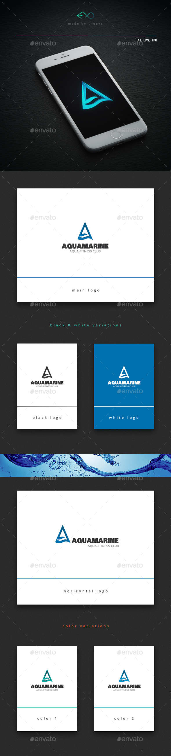 Aquamarine - Letters Logo Templates