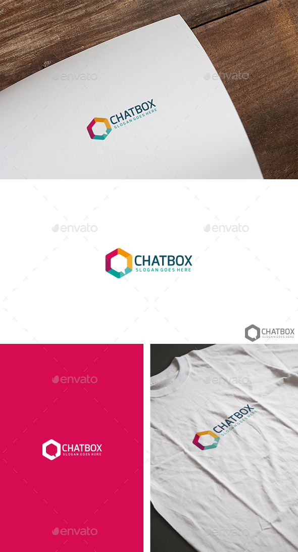 Chat Box Logo - Abstract Logo Templates