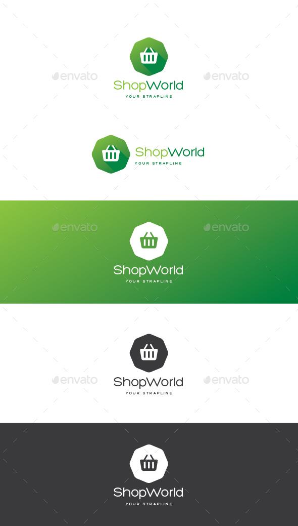 Shop World Logo - Symbols Logo Templates