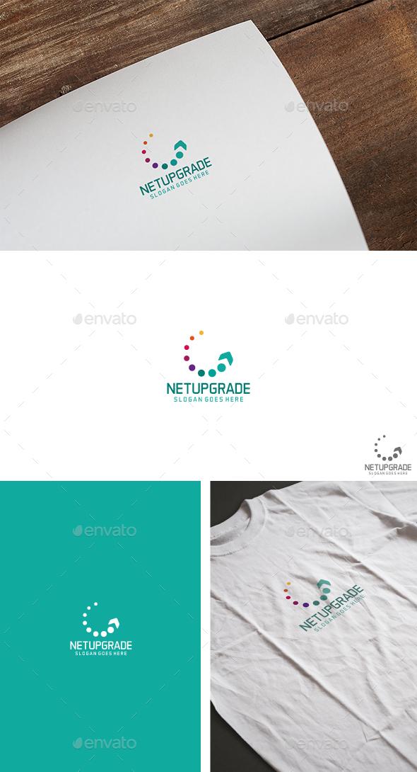 Dot Arrow Logo - Abstract Logo Templates
