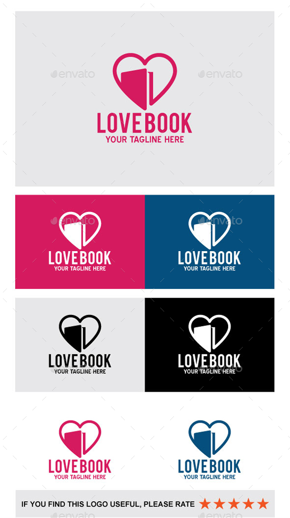 Love Book - Abstract Logo Templates