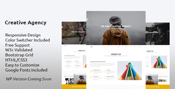 Creative Agency – HTML5 Template