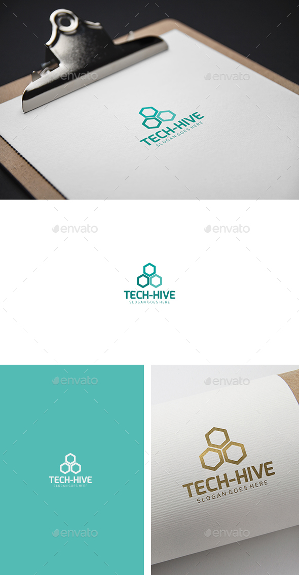 Tech Hive Logo - Abstract Logo Templates