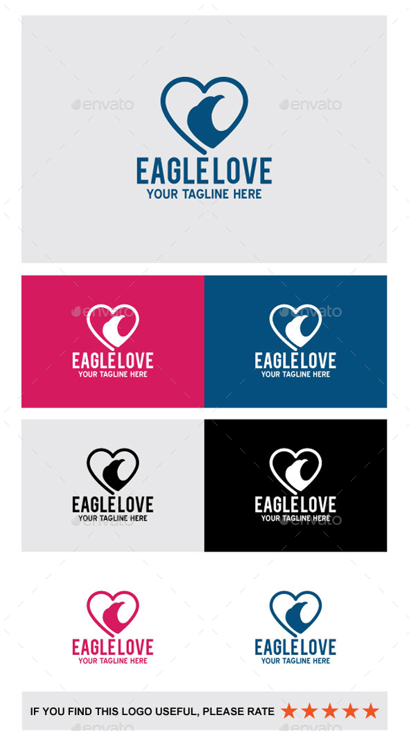 Eagle Love - Animals Logo Templates