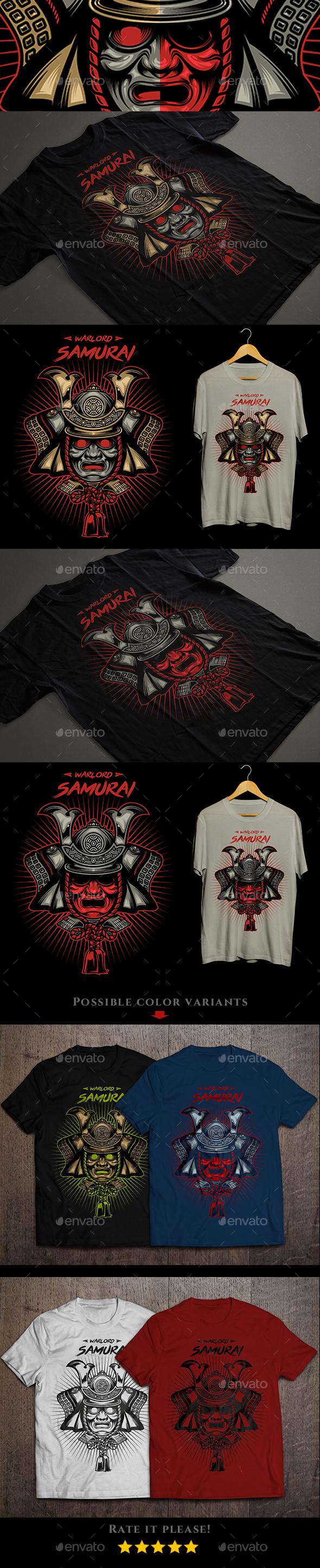 Warlord Samurai T-shirt - Designs T-Shirts