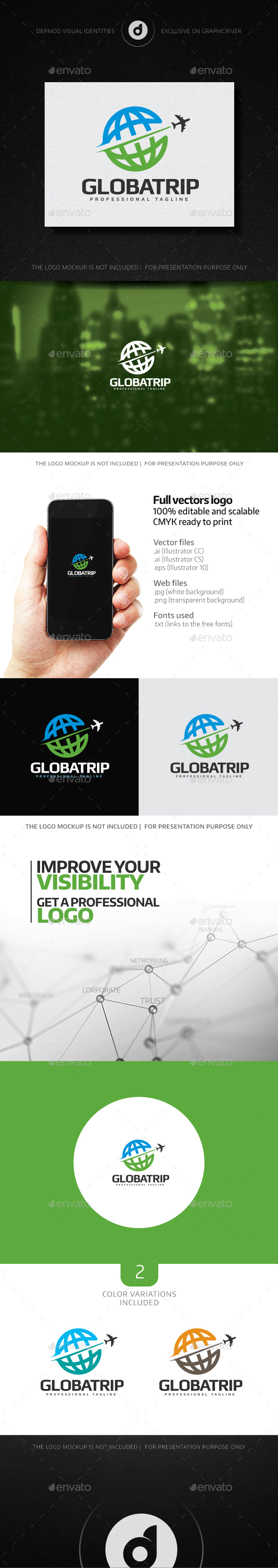 Global Trip Logo - Symbols Logo Templates