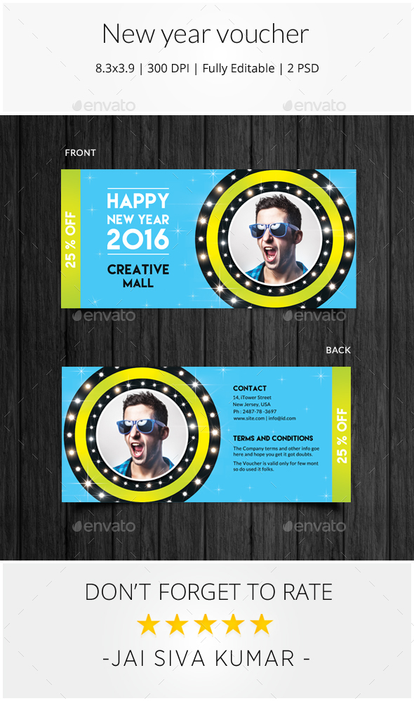 New Year Voucher - Loyalty Cards Cards & Invites