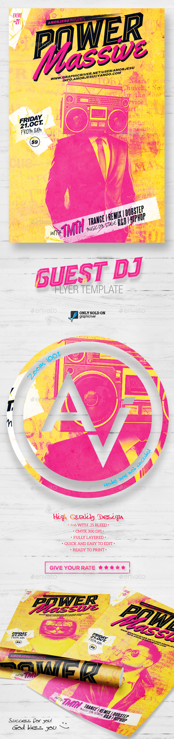 Guest DJ Flyer Template V4 - Clubs & Parties Events