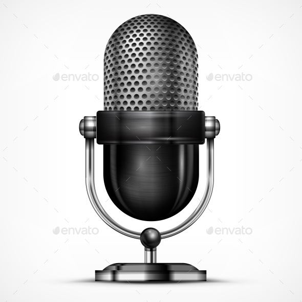 Microphone on White  - Concepts Business