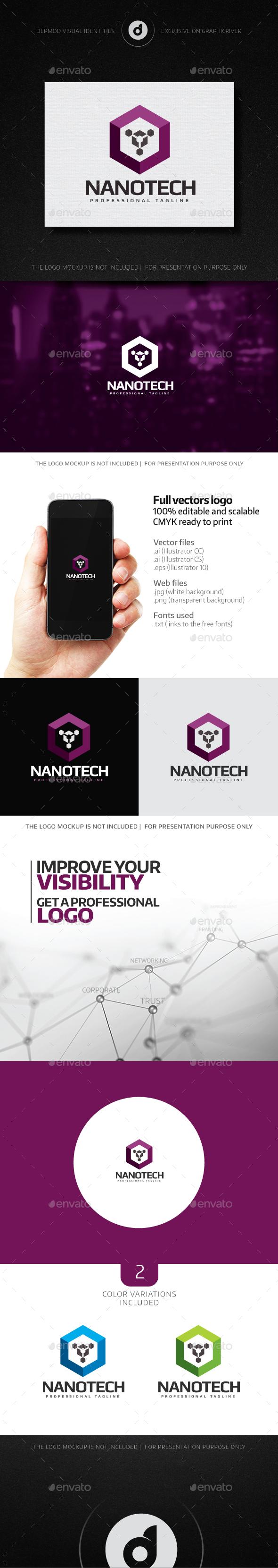 NanoTech Logo - Abstract Logo Templates