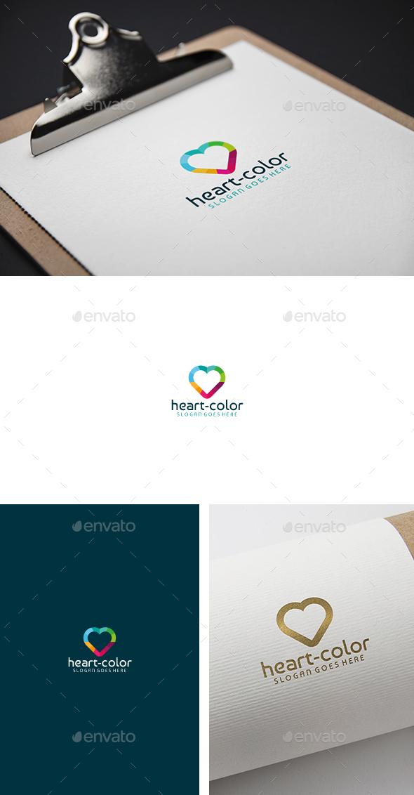 Heart Colorful App Logo - Abstract Logo Templates