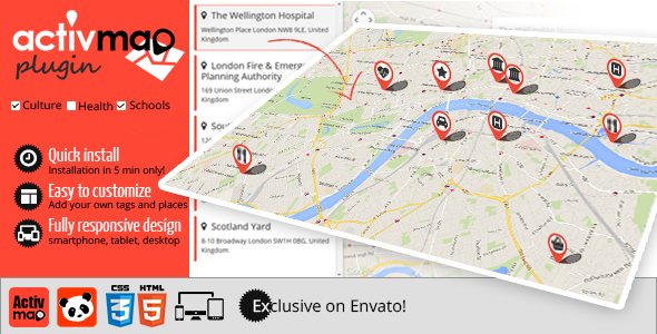 Activ'Map Stores Locator - Responsive Gmaps - CodeCanyon Item for Sale