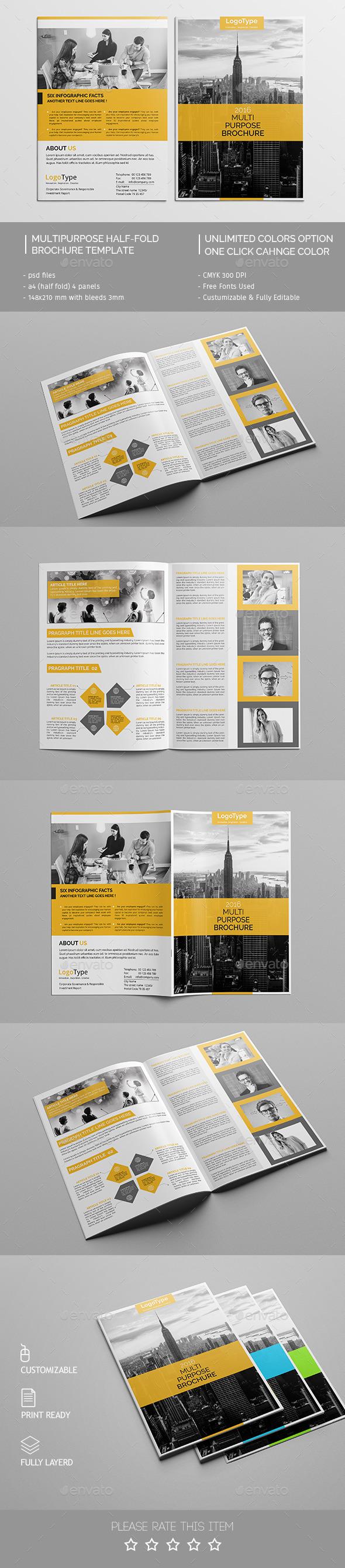 Corporate Bi-fold Brochure Template 08 - Corporate Brochures