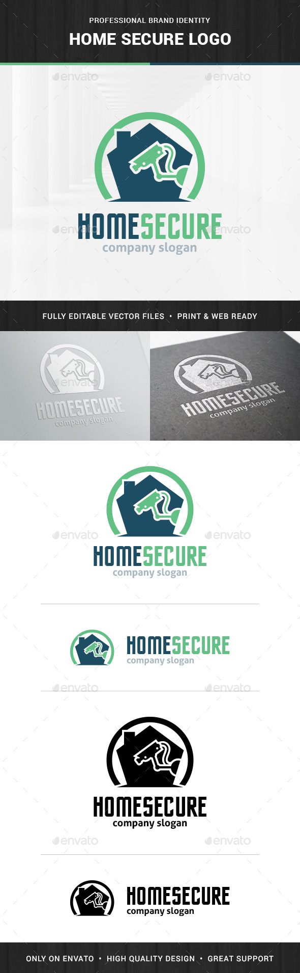 Home Secure Logo Template - Objects Logo Templates