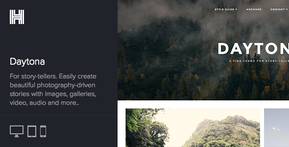 Daytona – A Fine Responsive WordPress Blog Theme