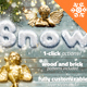 Snow and Wood Photoshop Winter Sign Creator - GraphicRiver Item for Sale