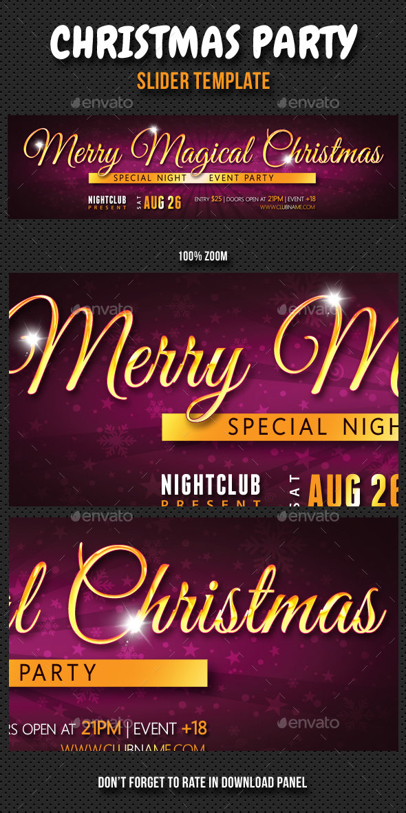 Christmas Party Slider 02 - Sliders & Features Web Elements
