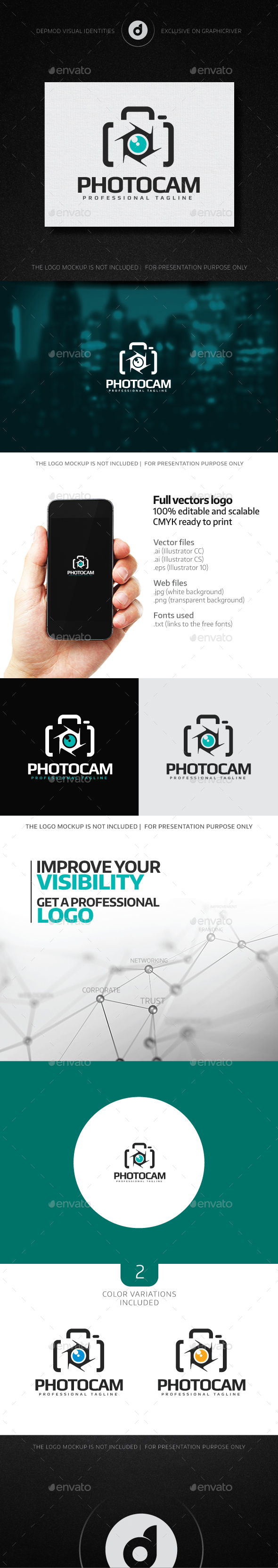 PhotoCam Logo - Objects Logo Templates