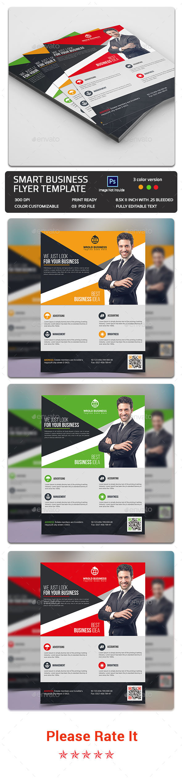 Smart Business Flyer Template - Flyers Print Templates