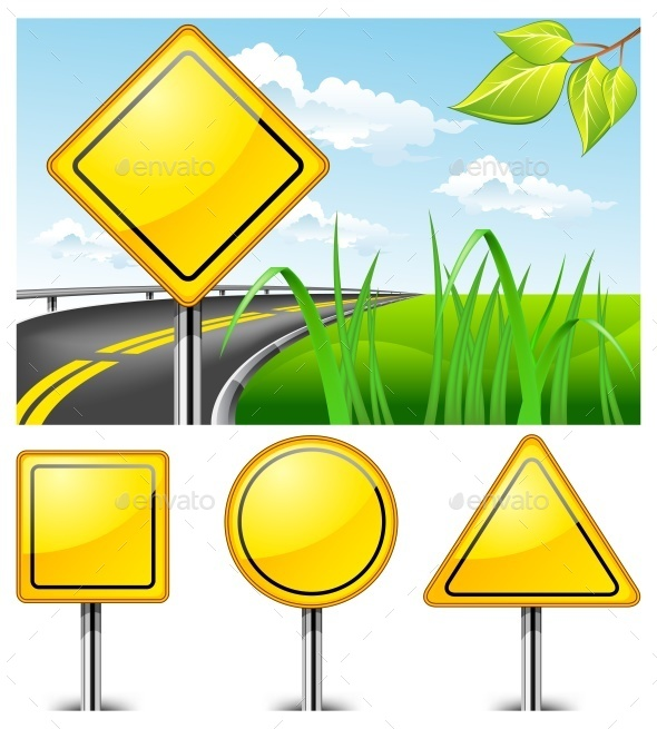 Road Signs - Miscellaneous Vectors