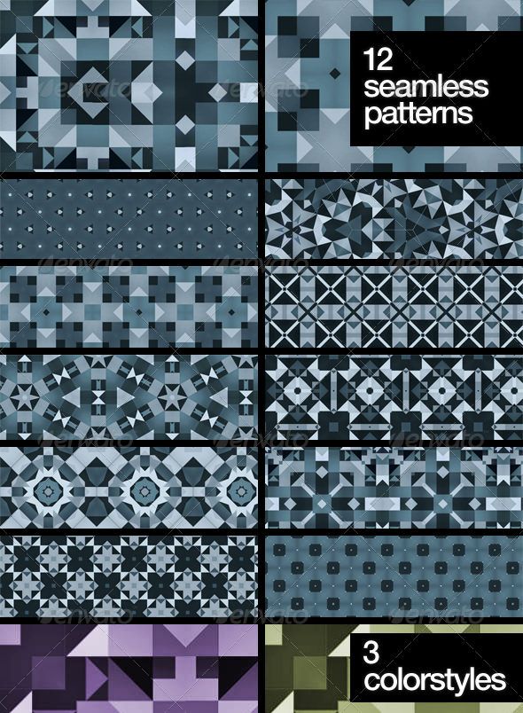 Abstract Snowflakes Patterns - Abstract Textures / Fills / Patterns