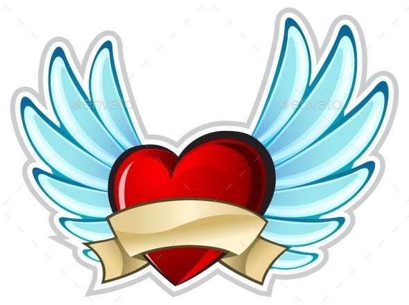 Heart with Wings - Miscellaneous Vectors
