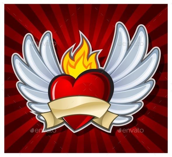 Fiery Heart - Miscellaneous Vectors