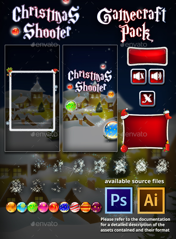 Christmas Shooter Game Assets - Game Assets