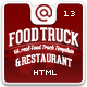 Food Truck & Restaurant 10 Styles - HTML5 Template Nulled