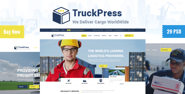 TruckPress | Logistics & Transport Business PSD