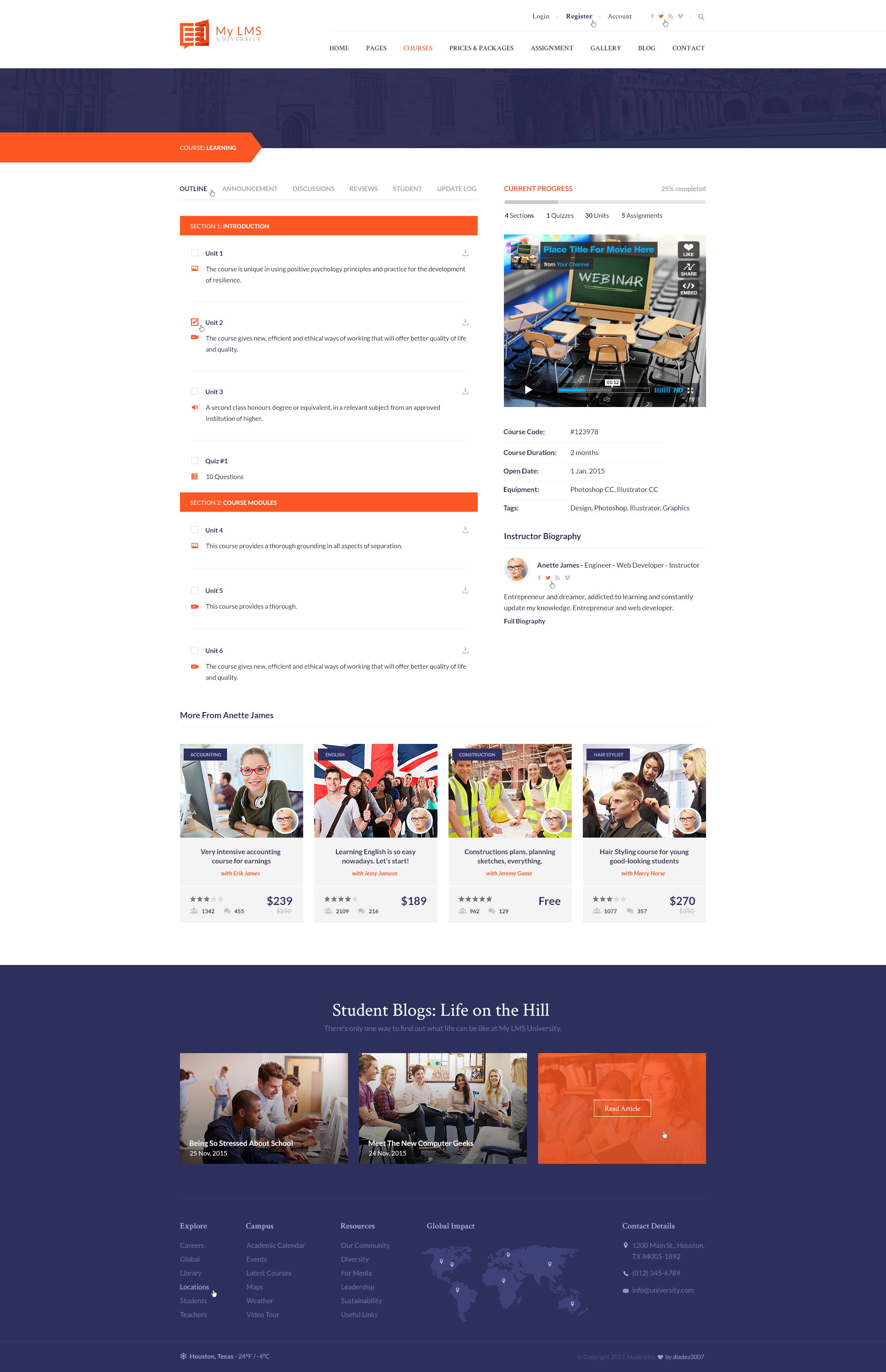 My LMS - Education & Campus PSD Template by diadea3007 | ThemeForest