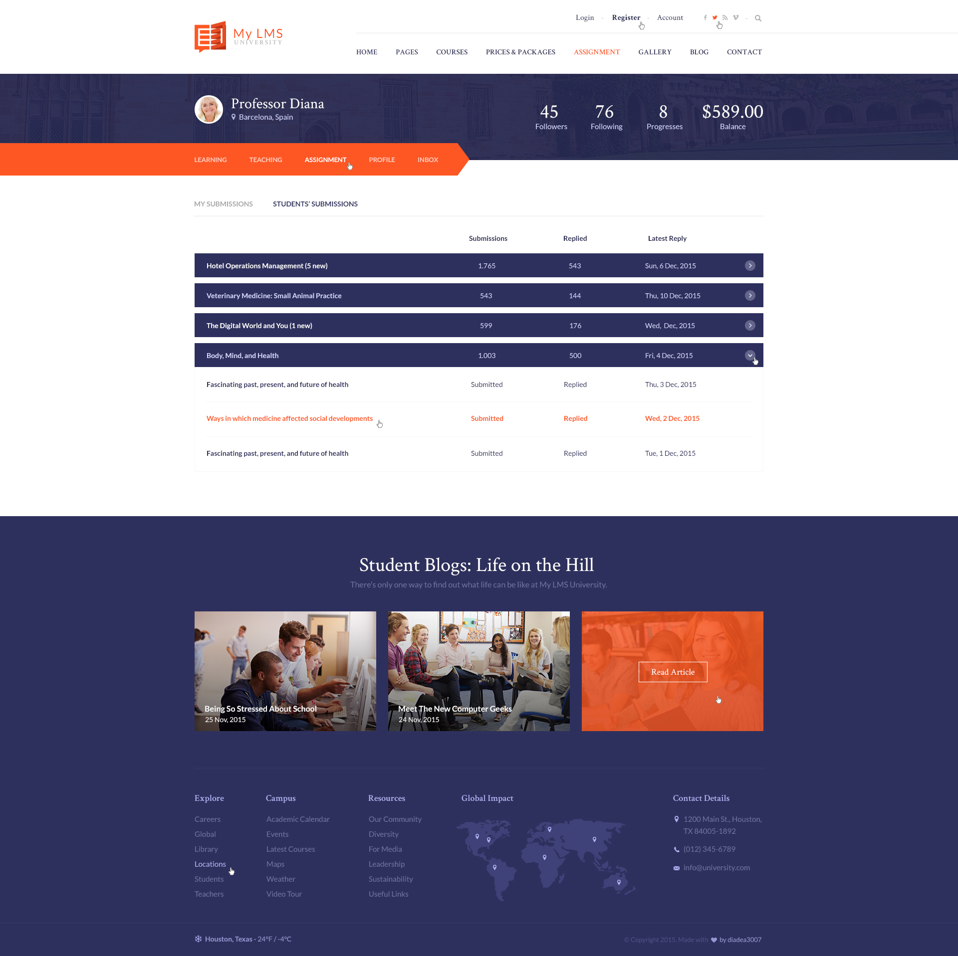 My LMS - Education & Campus PSD Template
