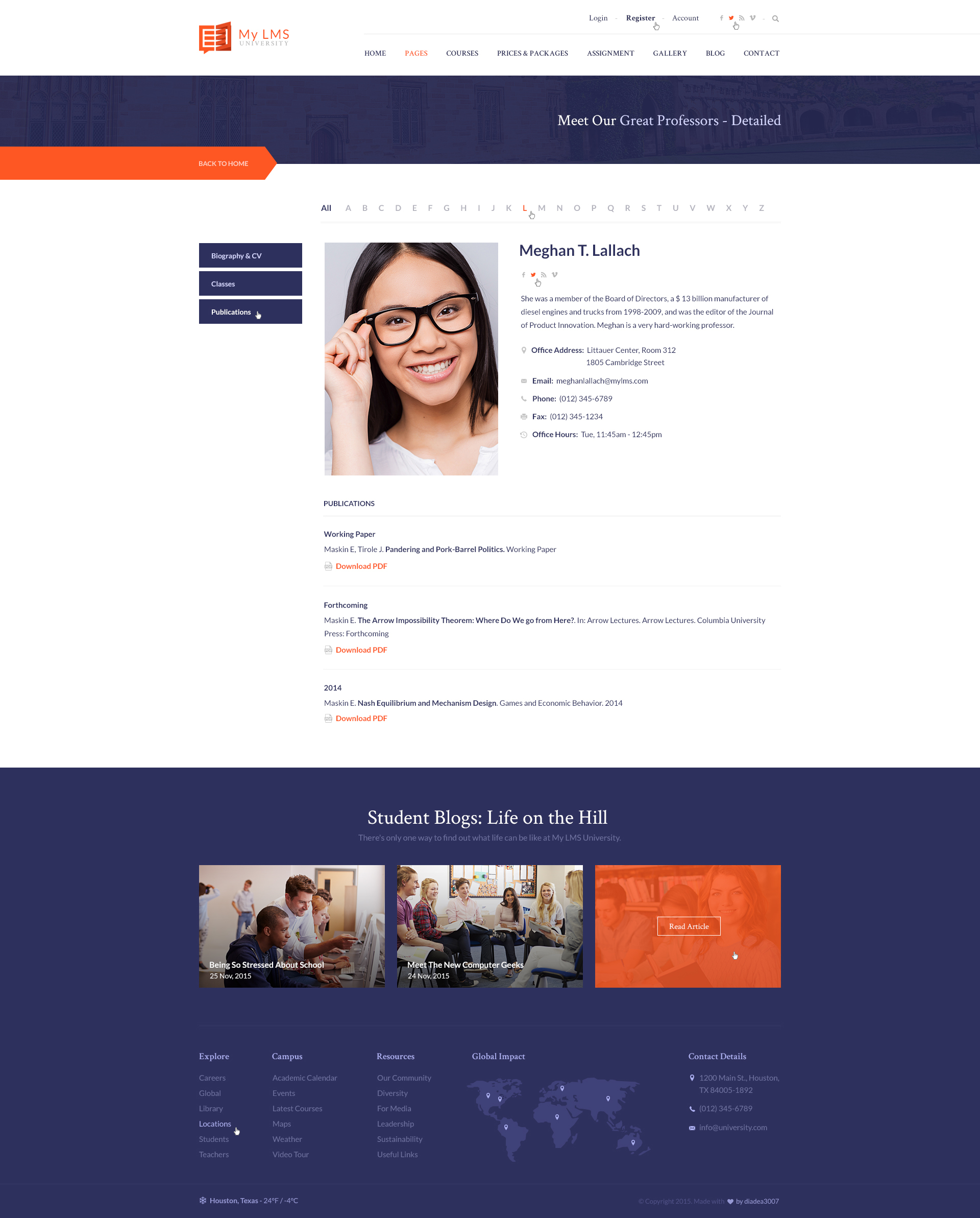 Profile Page Template | My Lms Education Campus Psd Template By Diadea3007 Themeforest