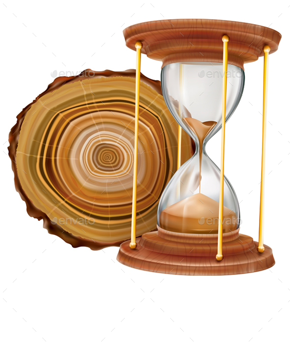 Annual Tree Rings and Hourglass - Concepts Business