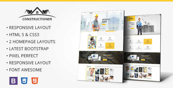 Constructioner – Modern Construction HTML Template