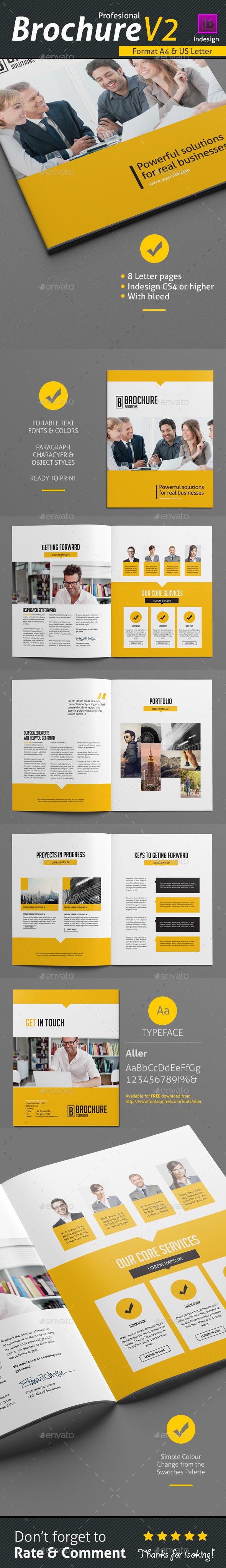 Brochure Template V2 - Brochures Print Templates